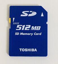Original 512MB Toshiba SD Memory Card For Digital Cameras Used