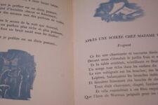 POEMES POUR LA GRANDE AMIE ALBERT SAMAIN MICHEL MARE 1943 VELIN ROSE