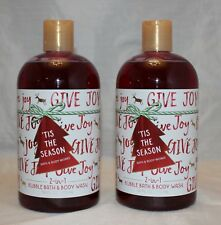 Bath & Body Works 'Tis the Season 2 in 1 Bubble Bath & Body Wash X 2