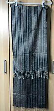 Christian Dior Cashmaire scarf black white striped acrylic made in England