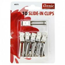 ANNIE 10 COUNT SLIDE-IN CLIPS #3171 METAL HAIR CLIP