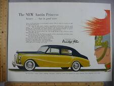Rare Orig VTG 1956 Austin Princess Jaguar Mark Eight Cars Advertising Art Print