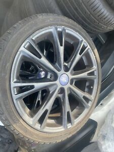 SET OF X4 FORD FIESTA ZETEC S / ST LINE ALLOYS IN BLACK USED AS PICTURED