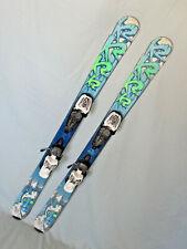 New listing K2 INDY Kid's Skis 112cm Rocker Tip & Tail w Marker 4.5 Demo Adjustable Bindings