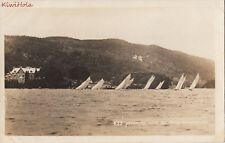 Postcard Rppc Yachting Near Ferry Windermere Uk