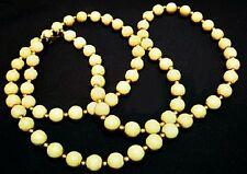 and Brass Beads U6 Vintage Signed Monet Natural Tan