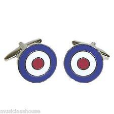 RAF Roundel MODs & Rockers The Who Bullseye Target CUFFLINKS Present GIFT Boxed