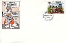 Maldives 1985 Disney Fdc - Doctor Knowall series - Di 5375