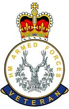 Gordon Highlanders HM Armed Forces Veterans Clear Cling Sticker