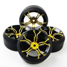 4X 1/10 Drift Tires Wheel Rim Fit HSP HPI RC On-Road Car MPNKG+PP0370 12mm Hex