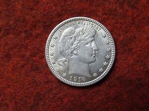 1916 D Barber Quarter ,90% Silver , Full Liberty, High Grade, AU/BU Slider