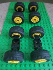 12 Lego White Model Team Wheels Lot 2695c01 13x24 tire 30x13 wheel