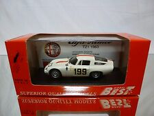 BEST MODEL 9116  ALFA ROMEO TZ1 MONZA 1964 - WHITE 1:43 - NEAR MINT IN BOX