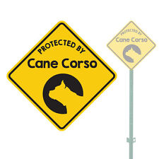 """Beware Of The Dog Protected By Cane Corso Heavy Duty Aluminum Sign 11"""" x 11"""""""