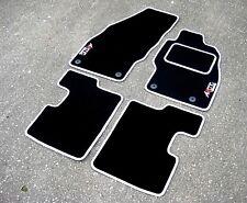 Black/White Car Mats To Fit Vauxhall Corsa D VXR (06-14) + Arctic Edition Logos