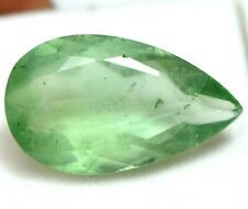 19.90 Ct Natural Green Colombian Emerald Fluorite Certified Sparkling Gemstone