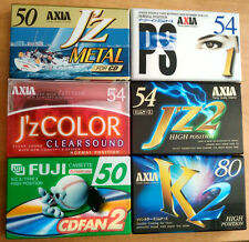 LOT OF 6 AXIA BLANK CASSETTE TAPES - SET NO' 1 - METAL, HIGH POSITION AND NORMAL