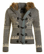 New Womens Superdry Unique Sample Nordic Ski Hooded Toggle Cardigan Size Small