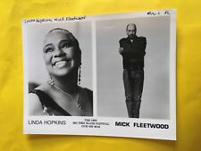 Linda Hopkins & Mick Fleetwood Press Photo 8x10�, Big Time Blues Festival 1993.