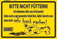 Pferd Bitte nicht füttern ! Blechschild Schild gewölbt Metal Tin Sign 20 x 30 cm