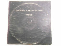 EMERSON LAKE PALMER ELM works Gatefold double LP record RARE INDIA VG+