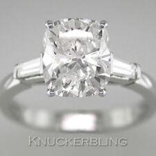 Cushion Very Good Cut Natural Fine Diamond Rings
