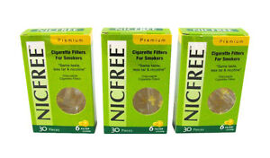 NICFREE Premium Cigarette Filters Remove Tar Nicotine 90 FILTERS - FREE SHIPPING