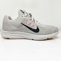 Nike Womens Zoom Winflo 5 AA7414-013 Gray Running Shoes Lace Up Low Top Size 7