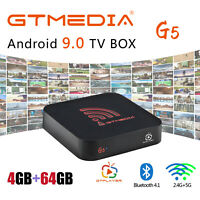 Andriod 9.0 TV Box GTMedia Quad Core 4GB+64GB Smart Media Player 4K Dual Wifi