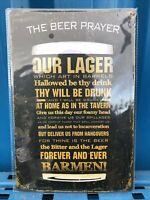 The Beer Prayer, Restaurant, Bar, Pub, Man Cave Vintage, Medium Metal Tin Sign