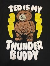 Ted Is My Thunder Buddy Large Black T Shirt Comedy Movie Film