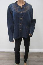 *MINT* DENIM d GREE Women's Denim Jacket Embroidery & Rhinestone Buttons Size 2X