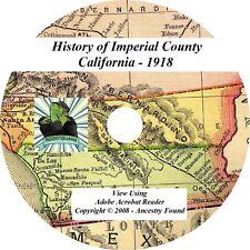 1918 History & Genealogy IMPERIAL County California CA