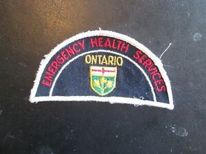 ONTARIO EMERGENCY HEALTH SERVICES SHOULDER PATCH