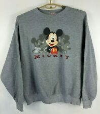 Disney Mens VINTAGE Mickey Mouse Size XL Sweatshirt USA Made cotton/poly 80's? p