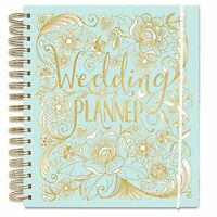 Luxury Wedding Planner Book in Duck Egg Blue (Diary/Organiser) Engagement gift