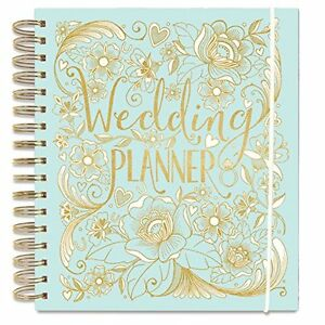 Luxury Wedding Planner Book in Duck Egg Blue (Diary/Organiser) Engagement gift