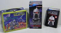 Battlestar Galactica Retro Tin Metal Lunchbox 35th Anniversary Coasters Bobble