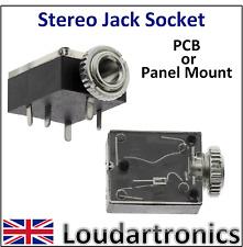 3.5mm Stereo Jack  Socket PCB or Panel Mount