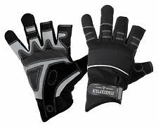 Professionelle Rigger Handschuhe aus Kunstleder in Größe XL mit 3 kurzen Fingern