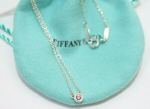 """Tiffany & Co. Sterling Silver Peretti By The Yard Pink sapphire Necklace 16"""""""