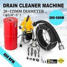 """Pro 100 ft 3/4"""" Compact Electric Auger Drain Cleaner Machine Sewer Snake+Cutter"""