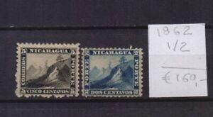 ! Nicaragua 1862.  Stamp. YT#1/2. €160.00!