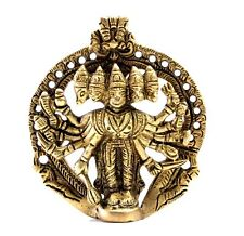 Elegant Wall hanging Brass Panchmukhi Hanuman Statue/ Hindu God Showpiece Art