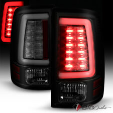 For 10-17 RAM Black Smoked LED Tail Lights w/ Fiber-Optic-Light Tube, Signal