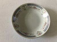 """China Pearl Catherine Blue Border, Floral, Gold Trim - 7-1/2"""" COUPE SOUP BOWL"""