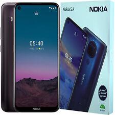 NUOVO con scatola Nokia 5.4 DUAL-SIM 64GB TRAMONTO Viola Android sbloccato di fabbrica 4G/LTE SIMFREE