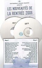 UNIVERSAL NOUVEAUTES RENTREE 2006 compile CD PROMO eddy superbus lara fabian ..