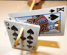 CHOPSTICK CARD TRICK CHOP STICK MAGIC RISING CARDS NEW FREE CHOICE SELF WORKING
