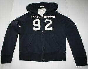 Abercrombie kids navy muscle hoodie sweatshirt boys L